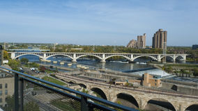 Mississippi River in Minneapolis Stock Images