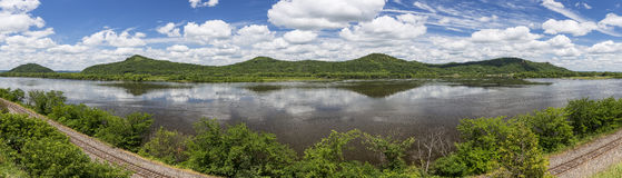 Mississippi River Panoramic stock photography