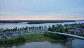 Mississippi river park Stock Images