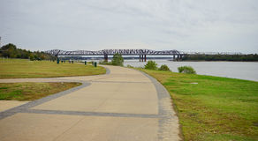 Mississippi river park Royalty Free Stock Images