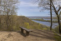 Mississippi River Scenic View In Spring royalty free stock photography