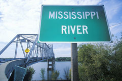 Mississippi River sign. A sign that reads Mississippi River royalty free stock photo