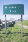 Mississippi River sign in Southeast USA royalty free stock photos