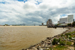Mississippi River Skyline Royalty Free Stock Images