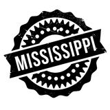 Mississippi stamp rubber grunge. Mississippi stamp. Grunge design with dust scratches. Effects can be easily removed for a clean, crisp look. Color is easily Stock Images