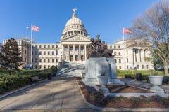 Mississippi stanu Capitol i Nasz matki Pomnikowi w Jackson, Mississippi Obrazy Stock