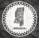 Mississippi stanu mapa royalty ilustracja