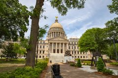 Mississippi State Capitol building, Jackson, MS stock photography