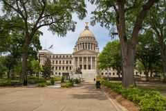 Mississippi State Capitol building, Jackson, MS stock image