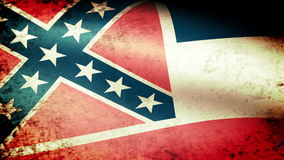Mississippi State Flag Waving, grunge look. Mississippi State Flag Waving grunge look, video footage stock video footage