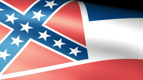 Mississippi State Flag Waving. Video footage stock video footage