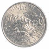 Mississippi state quarter Stock Photography
