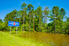 Mississippi state sign Royalty Free Stock Photos