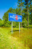 Mississippi state sign. Along the roadside stock photos