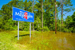 Mississippi state sign. Along the roadside royalty free stock photos