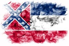 Mississippi state smoke flag, United States Of America.  stock photography