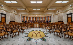 Mississippi Supreme court chamber stock image