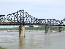 Mississippi Vicksburg 2003. Bridge over the Mississippi River in Vicksburg USA royalty free stock photo