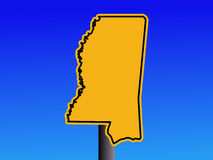Mississippi warning sign Royalty Free Stock Photography