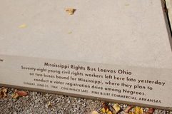 Mississippi Wyprostowywa Autobusowych liście Ohio obrazy stock