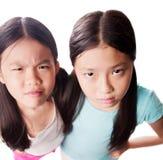 Missnöjda flickor Arkivfoton