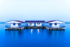 Missolonghi floating houses. Floating houses in the lake of Missolonghi in Greece Stock Images