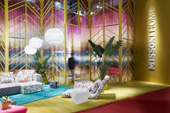 Missoni home stand during Salone del Mobile Stock Photography