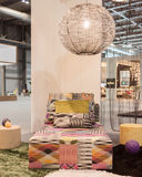 Missoni sofa on display at HOMI, home international show in Milan, Italy Royalty Free Stock Photo