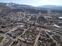 Missoula Montana Aerial. Aerial view of the city of Missoula Montana Stock Images