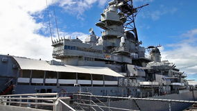 Missouri Battleship memorial. HONOLULU, OAHU, HAWAII, UNITED STATES - AUGUST 21, 2016:Missouri Battleship Memorial in Pearl Harbor Honolulu Hawaii, Oahu island stock footage