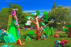 Missouri Botanical Gardens animal lantern display. Chinese inspired giant insect and animal  figures and symbols as giant lanterns set amidst the Missouri Royalty Free Stock Photo