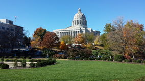 Missouri Capitol in Fall royalty free stock photo