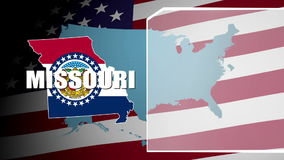 Missouri Countered Flag and Information Panel stock video
