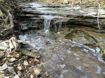 Missouri creekbed em Colômbia, MO foto de stock royalty free
