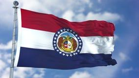 Missouri falowania flaga obraz stock