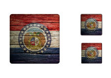 Missouri flaggaknappar Royaltyfri Fotografi