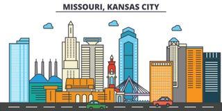 Missouri, Kansas City.City skyline   Royalty Free Stock Image