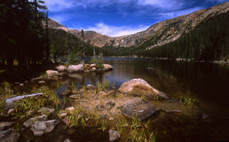 Missouri Lake. High country lake in the mountains of Colorado in summer stock image