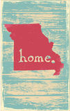 Missouri nostalgic rustic vintage state vector sign. Rustic vintage style U.S. state poster in layered easy-editable vector format Royalty Free Stock Photo