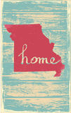Missouri nostalgic rustic vintage state vector sign. Rustic vintage style U.S. state poster in layered easy-editable vector format Stock Photography