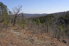 MIssouri Ozark Mountain Panorama. In Johnson's shut in State Park Stock Photography