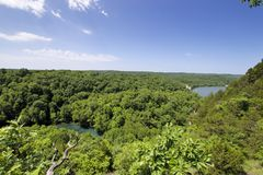 Missouri Ozarks. View of the Missouri Ozarks in Ha Ha Tonka state park stock images