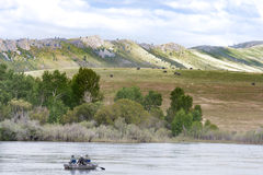 Missouri River Fishing in Technicolor Stock Photography