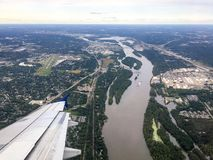 Missouri river. Flowing through Minneapolis royalty free stock photos