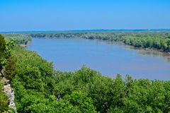 Missouri River with forest Stock Image