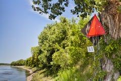 Missouri River navigational sign Stock Images
