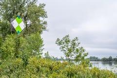 Missouri River navigational sign Royalty Free Stock Image