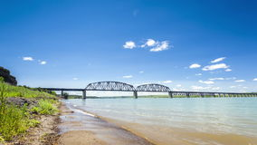 Missouri River during summer time Royalty Free Stock Images