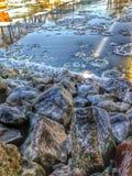 Missouri rzeki skały Obrazy Stock