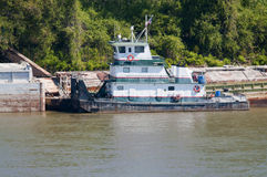 Missouri Rzeki tugboat zdjęcia royalty free